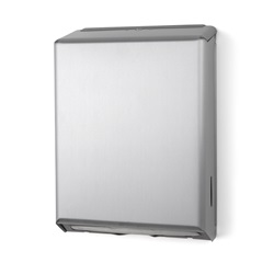 Brushed Steel C-Fold / Multi-Fold Towel Dispenser