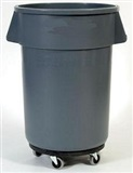32, 44 & 55 Gallon Mobile Round Receptacle