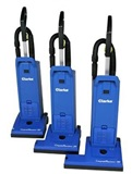 Clarke CarpetMaster Commercial Vacuums - Two Motor Uprights w/ on-board tools