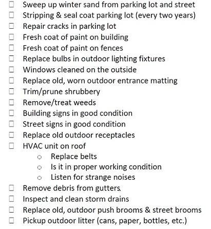 Exterior maintenance tips outdoor inspection checklist - Exterior home maintenance checklist ...
