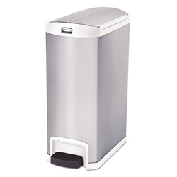 Slim Jim Stainless Steel Step On Receptacle - 13 Gallon