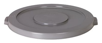 Flat Lid for use with Round Receptacle