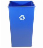 Square recycling containers